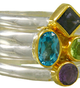 Michou Kaleidoscope - Sterling Silver and 22K Gold Vermeil Ring