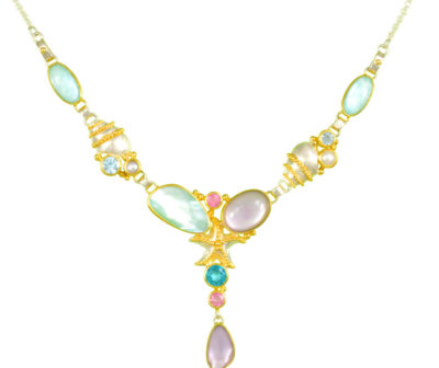Natasha World Jewelry - Poseidons Treasures - Cluster Necklace