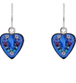 Firefly - Swarovski Sapphire Blue Heart Earrings