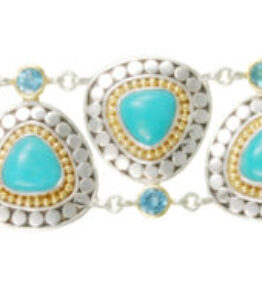 Michou Harmonics Collection Bracelet w/ Turquoise, Blue Topaz