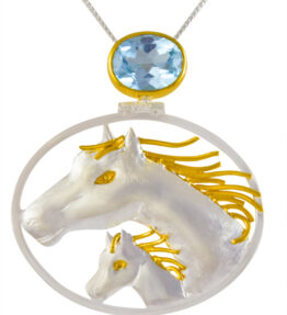 Michou Magical Menagerie - Mother and Colt Pendant