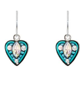 Firefly - Swarovski Blue Ice Heart Ear Rings